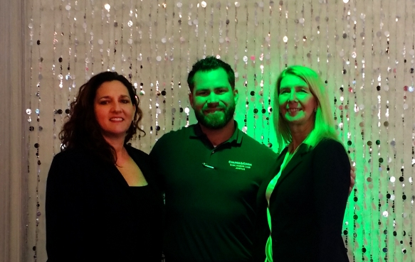 Theo Prodromitis, Crumb & Cork Owner Joshua Pillock and Colleen Laurain, Business Development, Best Western Worldwide
